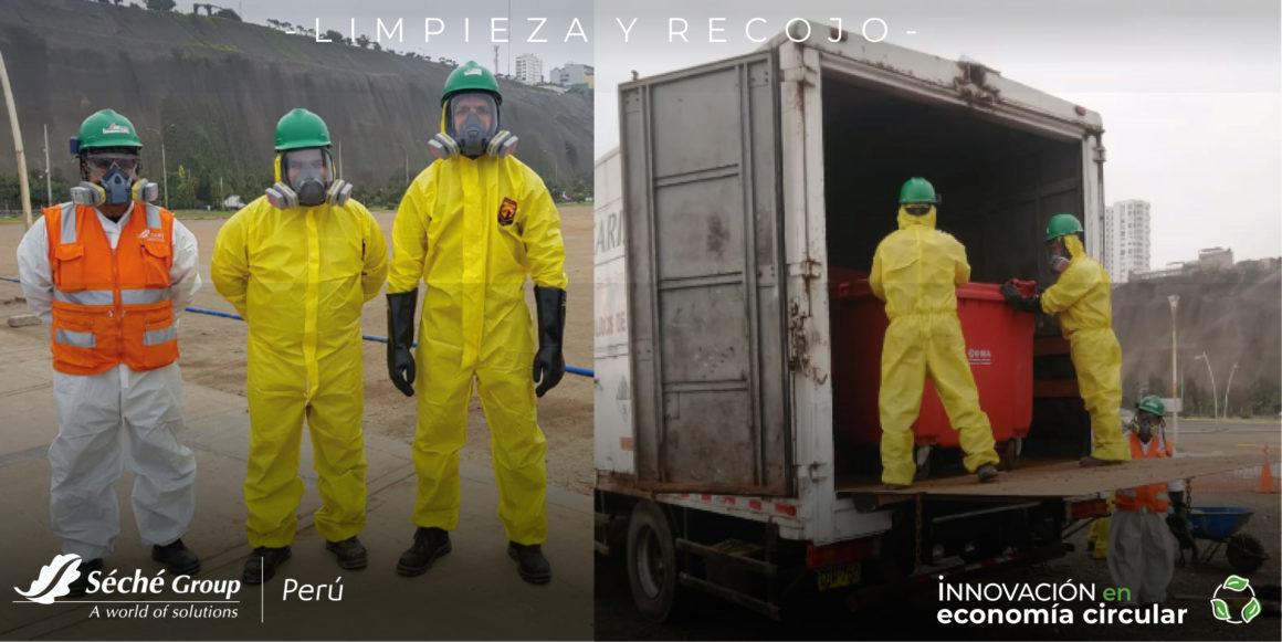 COSTA VERDE   Séché Group Perú realizó la limpieza de residuos peligrosos encontrados en la zona